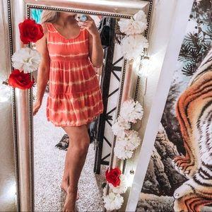 Babydoll tunic short mini dress tie dye summer